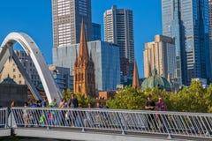 Melbourne Southbank Footbridge Fotografia Stock