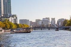 Melbourne Southbank Footbridge Obrazy Stock