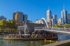 Melbourne Southbank Footbridge Obraz Stock