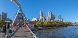 Melbourne Southbank Footbridge Royalty Free Stock Photos