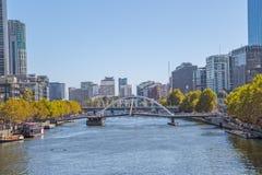 Melbourne Southbank Footbridge Stock Photo