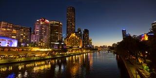Melbourne Southbank przy zmierzchem Obraz Stock