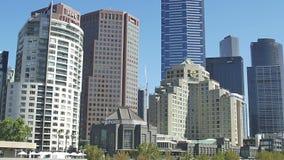 Melbourne Southbank tilt stock video