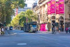 Melbourne spårvagnar Royaltyfria Bilder