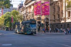 Melbourne spårvagnar Royaltyfri Fotografi
