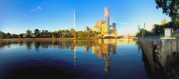 Melbourne spegel Royaltyfri Fotografi