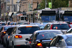Melbourne spårvägnätverk Fotografering för Bildbyråer
