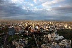 Melbourne stadshorisont Fotografering för Bildbyråer