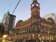 Melbourne stadshus Royaltyfria Bilder