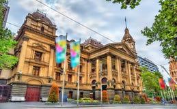 Melbourne stadshus i Australien Arkivbilder