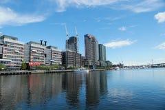 Melbourne stadsmarina på hamnkvarter i strandstaden, Melbourne Arkivbilder