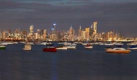 Melbourne stadssikt Royaltyfri Foto
