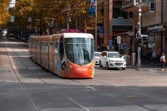 Melbourne stadsspårvagn Arkivbilder