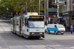 Melbourne stadsspårvagn Royaltyfri Fotografi