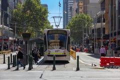 Melbourne stadsspårvagn Fotografering för Bildbyråer