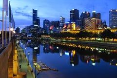 Melbourne-Stadt stockbild