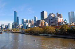 Melbourne-Stadt stockfoto