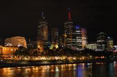 Melbourne-Stadt nachts (ii) stockfotos