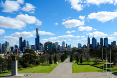 Melbourne-Stadt-Skyline Lizenzfreies Stockfoto