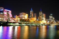Melbourne-Stadt-Skyline stockbilder