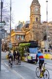 Melbourne-Stadt Trams 2 Stockbilder