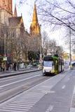 Melbourne-Stadt Trams 2 Lizenzfreie Stockfotos