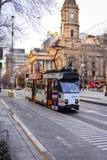 Melbourne-Stadt Trams 2 Stockfotografie