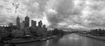 Melbourne-Stadt und Magnetkardiogramm stockfoto