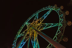 Melbourne Star observation wheel at night Royalty Free Stock Images