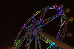 Melbourne Star observation wheel at night Stock Photography