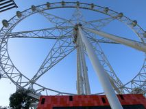 Melbourne Star at a Sunny Day, Melbourne, Australia stock images