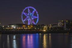 Melbourne stjärna mot en natthimmel Arkivbilder