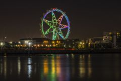 Melbourne stjärna mot en natthimmel Royaltyfri Fotografi