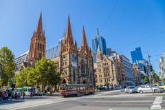 Melbourne StPaul katedra Fotografia Royalty Free