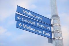 Melbourne-Straßenschild stockfotografie