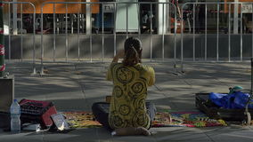 Melbourne street performer stock video