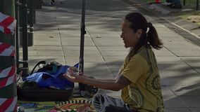 Melbourne street performer stock footage