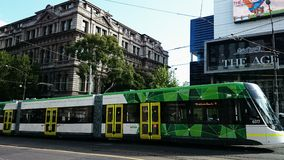 Melbourne Street View Stock Photo
