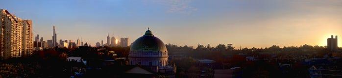 Melbourne su una mattina di inverno Fotografia Stock Libera da Diritti