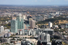 Melbourne sul Fotografia de Stock Royalty Free