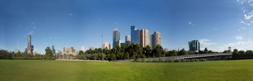 Melbourne in summer Stock Image