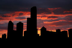 Melbourne at sunset Royalty Free Stock Images