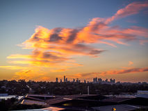 Melbourne Sunset Stock Image