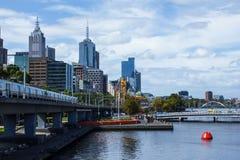 Melbourne tomado do aquário Imagem de Stock Royalty Free
