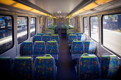 Melbourne Train Interior Royalty Free Stock Image
