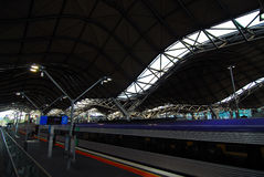 Melbourne train station platform. Stock Photo