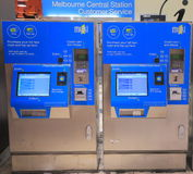 Melbourne train ticket machine Stock Photos