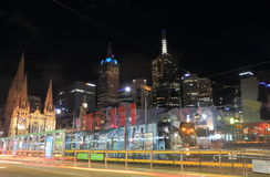 Melbourne tram cityscape Australia Royalty Free Stock Photo