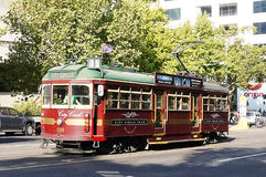 Melbourne Tram. Picture of Melbourne tram used for city tours for free Stock Photo