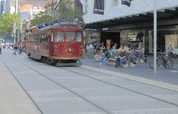 Melbourne Tram restaurant Stock Image